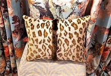 SCHUMACHER SAFARI EPINGLE CHAMOIS LUMBAR PILLOW