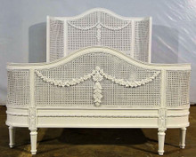 French Wing Rattan Bed Frame