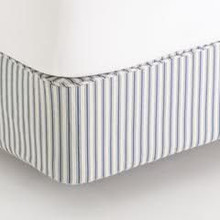 Ticking Fitted Cover For Box Spring