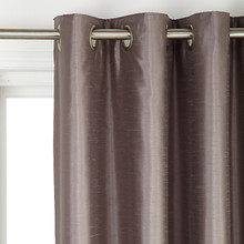 Faux Silk Curtains Blackout lined, grommet headed