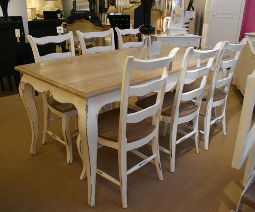 Marvelous French Oak Dining Table Set 1 Table 6 Chairs Stone Natural Oak French Style Download Free Architecture Designs Embacsunscenecom