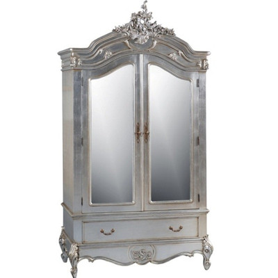 French Silver Armoire French Provincial Bedroom Furniture