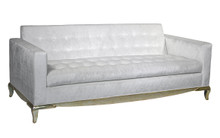 Madison Sofa, Tufted with gold base