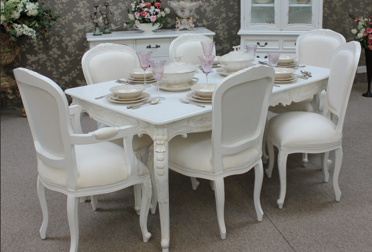 Phenomenal Provincial Chateau Dining Table Set 1 Table 6 Chairs Uwap Interior Chair Design Uwaporg