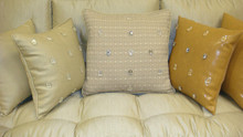 "Milan Throw Pillow Cover, Grey Multi, Bling 20"" x 20"""