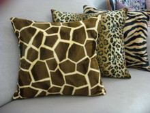 Giraffe Throw Pillow, Brown & Gold