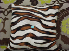 Zebra Bling Throw Pillow