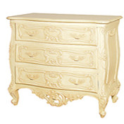 Chest of Drawers, Baroque Style 3 Drawers, Chateau Cream
