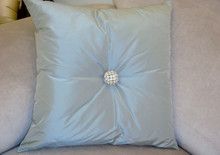 Designer Throw Pillow, Bling Swarovski