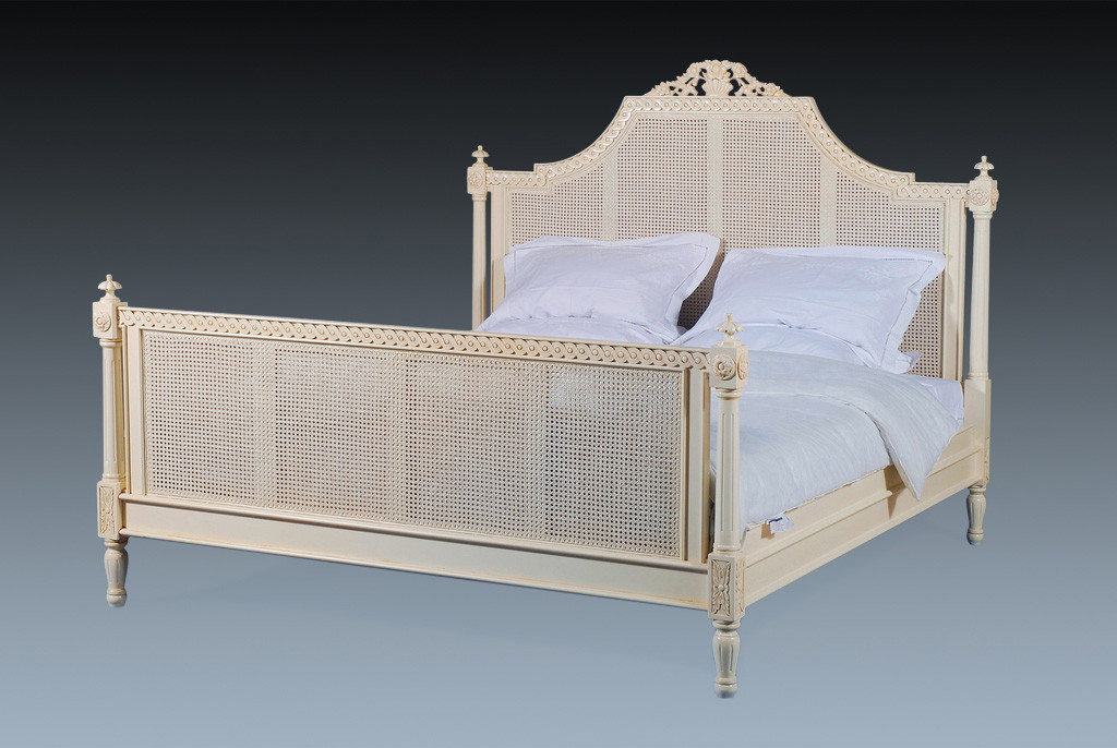 French Rattan Bed Ivory French Country Bedroom Furniture