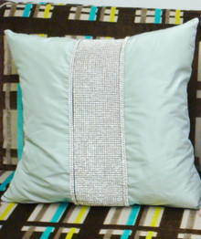 Luxury Throw Pillow,  Belgravia Diamante Bling, Shown in Green