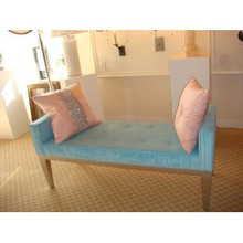 Upholstered Bench, Silver......IN STOCK