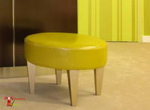 Bench Stool, The Bond Street Stool, round with gold legs