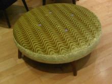 Modern Ottoman, fabric by Designer Guild