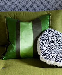 Dukala Throw Pillow in Color Lime