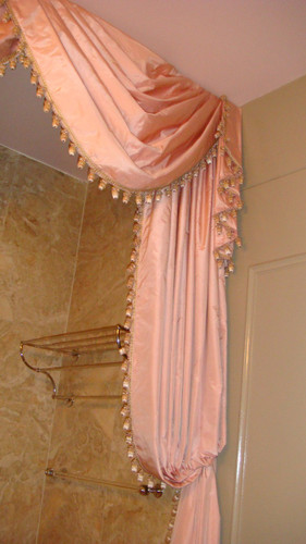 Luxury Bathroom Curtain Treatment Nyc