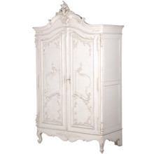 Marie Antoinette Armoire, French Antique White