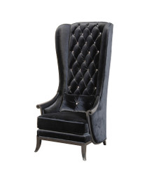 Modern Wing Chair, Velvet Highback Chair