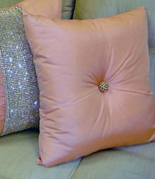 Luxury Throw Pillow, Carnaby Street Bling Knife Edge
