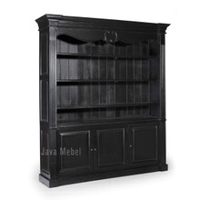 Bookcase, French Bookcase Display, Black