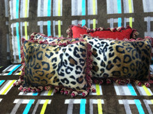 Cheetah Boudoir Pillow, Lumbar