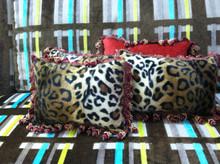 Cheetah Boudoir Pillow, Lumbar