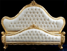 French Tufted Bed, Upholstered Bed