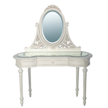 French Provencial Vanity Table, Provencal White