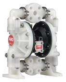 "Ingersoll Rand ARO 6661A4-444-C | 1"" AODD Pump (Kynar & Teflon) Three Piece Manifold"