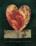 """Epson archival print of fabric appliqué heart by Peter Good. Special 2021 edition  Size 16"""" x 18""""   Unframed"""