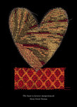"""Epson archival print of fabric appliqué heart by Peter Good. Special 2021 edition Size 16"""" x 20"""" Unframed"""