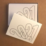 """2021 """"Pick Yourself UP"""" Note Cards Box of ten A-2 sized cards with envelopes. Designed and printed in our home studio."""