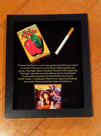 Pulp Fiction Red Apple Cigarette Pack Framed Very Neat