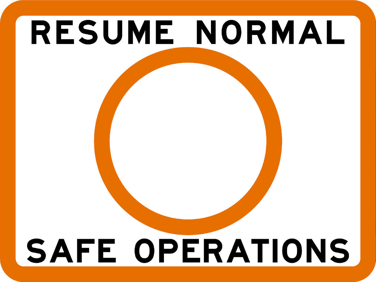 coast guard resume normal safe operations sign