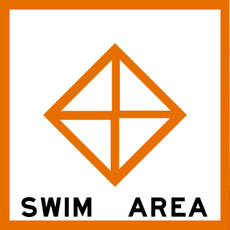 United States Coast Guard Swim Area Sign for Navigational Waterway