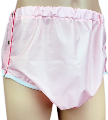DryDayz Pink Adult Crinkle Bum Side Fastening Pants ABDL Incontinence Briefs