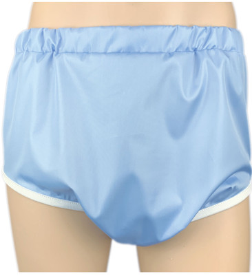 DryDayz Blue Adult Crinkle Bum Pull Up Plastic Polyester Pants ABDL Incontinence Briefs