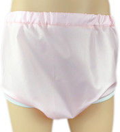 DryDayz Pink Adult Crinkle Bum Pull Up Pants ABDL Incontinence Briefs