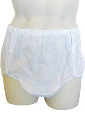 DryDayz white side snap plastic incontinence pants for adults