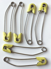6 Large Nappy / Diaper Pins for adults