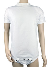 Drydayz White Wincyette Brushed Cotton Adult Body Suit T Shirt Onesie ABDL