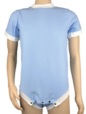Drydayz Blue Wincyette Brushed Cotton Adult Body Suit T Shirt Onesie ABDL
