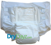 Drydayz All White Adult Nappy Size Medium abdl diapers for adults nappies diaper fetish