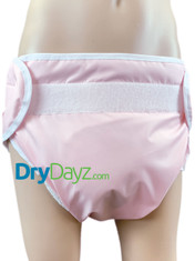 DryDayz Adult Pink Washable Nappy All In One Diaper With 6 Layer Extra Absorbent Pad ABDL Reusable Environmentally Friendly
