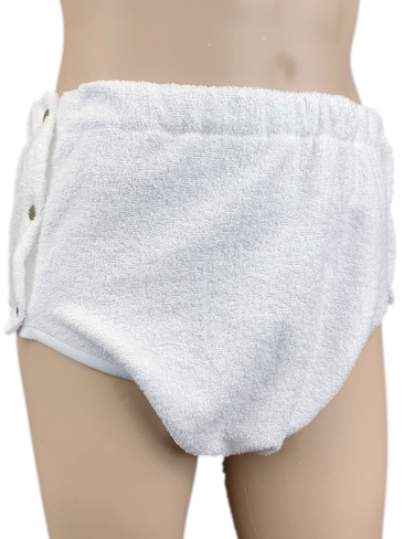 DryDayz Side Fastening Terry Towelling Adult Incontinence Brief Pants Double Thickness ABDL Washable Nappy Nappies Diaper