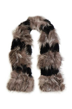 Silver Fox & Coney Fur Scarf
