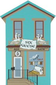 Cat's Meow Village Wooden Shelf Sitter Keepsake - 12 Days Christmas 6 Geese