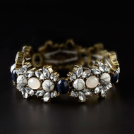 Expandable Mixed Stone Crystal Cluster Bracelet 4052095