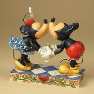 ENESCO Jim Shore Disney Smooch Mickey Kissing Minnie Mouse Figure #4013989 NEW