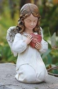 """Joseph's Studio 11.75"""" Angel Memorial Verse """"Always in our Hearts"""" Garden Statue"""